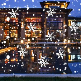 nubi paesaggistica Sconti Moving Snow Snow Laser Proiettore Lampade Fiocco di neve LED Stage Light Outdoor Christmas Party Paesaggio Prato nevicata Light