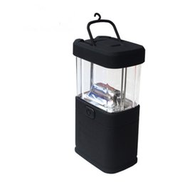 Lámpara led cuadrada online-Square Mini Lanterns Ahorro de energía portátil Colgante Luz LED Alto brillo Lámpara de camping impermeable Nueva llegada 4 7bc B