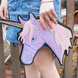 2020 borse a forma di unica Personalità della moda design unico laser carino unicorno forma di diamante busta pacchetto frizione borse borsa del portafoglio borse a forma di unica economici