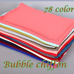 Wholesale Bubble Scarves - women plain bubble chiffon scarf hijab wrap printe solid color shawls headband popular hijab muslim scarves scarf 78 color