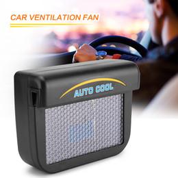 ambientador de habitación Rebajas LONGFENG LF53 Solar Sun Power Mini Aire Acondicionado para Ventanilla del Coche Auto Ventilación de Aire Ventilador Fresco Portátil Aire Acondicionado de Aire Ventilación