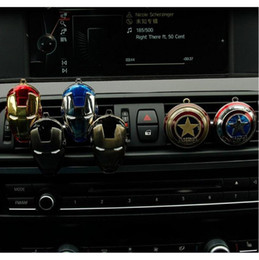 Wholesale auto perfume car air freshener - 23 Designs Car Air Vent Perfume Clip on Air Freshener for Marvel Iron Man Auto Decor Novelty Items AAA402