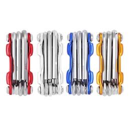 Wholesale allen key wrench - 7 in 1 Multifunctional Folding MTB Cycling Repair Tool Screwdriver Hex Wrench Allen Key Repair Tools Folding MTB Cycling Screwer +B