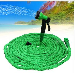 Wholesale Expandable Green Hose - 25 50 75 100 FT Expandable Garden Water hose Flexible hose With Spray Nozzle Sprayers Expandable Flexible Water hose Garden Pipe KKA3881