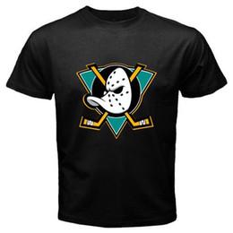 2019 nhl camiseta Novos Mighty Ducks de Anaheim NHL Hockey League preto dos homens T-Shirt Tamanho S-3XL nhl camiseta barato