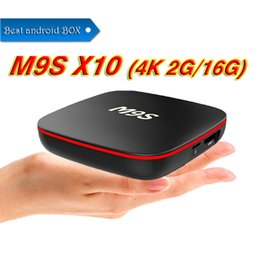 Фабрика M9S X10 TV BOX Android 7.1 Quad Core Rockchip RK3229 Интернет 4K 1 ГБ 8 ГБ WiFi 4K 3D Google Media Player 2 ГБ 16 ГБ Bluetooth от