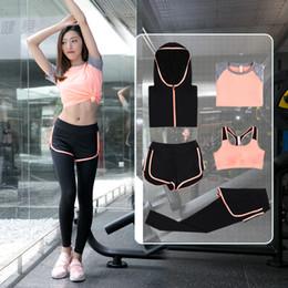 2019 sécheur à engrenages Yoga engrenage ensemble des femmes en cours d'exécution des vêtements d'entraînement montrent mince été séchage rapide gym fitness sport formation costumes de course sécheur à engrenages pas cher