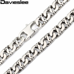 Wholesale Stainless Jewellry - 9.5mm 316L Stainless Steel Necklace Biker Link Chain Wholesale Mens Necklace Jewelry Gift Jewellry LHN01