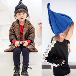Bebek şapka bebek şapka örgü ipliği erkek ve kız sonbahar ve kış fırıldak  sivri şapka sıcak kapüşonlu çocuk kap 7b4833124a