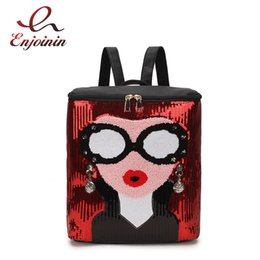 5e5838325d2f fashion trendy backpacks Canada - Trendy Fashion Sequins Sexy Woman Design  Dazzling Ladies Casual Backpack Shoulder