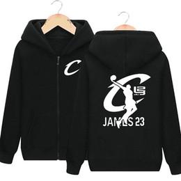 Wholesale Brush S - Slam dunk hoodies LeBron James sweat shirts Basketball fans clothing Cardigan zipper coat Outdoor sport jacket Brushed sweatshirts