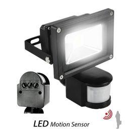 Luces de inundación con sensor de movimiento online-100 w llevó los reflectores PIR sensor de movimiento infrarrojo 10 W 20 W 30 W 50 W llevó luces de inundación a prueba de agua al aire libre llevó las lámparas del paquete de pared ac 110-240 v