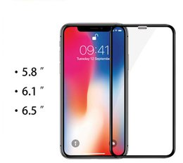 Canada 10 pcs en gros nouvelle couverture complète en verre trempé pour iPhone XS Max XR 6.5 6.1 5.8 Protection d'écran en verre Film de protection en verre 9H supplier iphone glass screen protector wholesale Offre