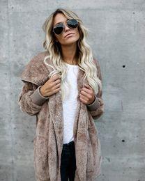 Argentina Ambos lados usan chaqueta de invierno cálido color de contraste con capucha de manga larga grueso abrigo de lana abrigo frontal abierto otoño abrigo cheap fleece overcoat Suministro