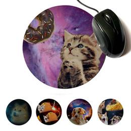 коврики для мыши для кошки Скидка MaiYaCa свои собственные коврики пончик молиться кошка собака настроить ноутбук игровой Lockedge коврик для мыши круглый коврик для мыши 22x22cm