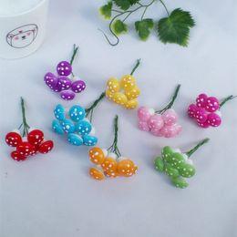 pianta artificiale libera Sconti Mini fiori artificiali della pianta del fungo della schiuma per il regalo della corona della decorazione DIY di nozze DHL FEDEX Trasporto libero