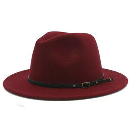 5a15d5832283fe brown fedora hats Promo Codes - 100% Wool Women Outback Felt Gangster  Trilby Fedora Hat