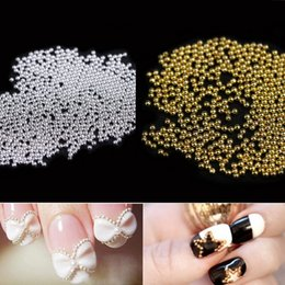 Wholesale Nail Ball Beads - Caviar Metal Steel Beads Ball 10g Burst Section Nail Art DIY Decorations Gold Silver Nickel Charm Beauty Pearl
