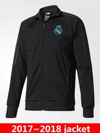 Wholesale Flash Jackets - 2018 World Cup Real Madrid jersey Jacket RONALDO MORATA BALE SERGIO RAMOS ISCO Football jerseys Training suit shirt