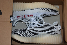 Wholesale Border Print Fabric - Kids Boost 350 V2 Zebra Black White Shoes Youth Boys Girls SPLY 350 V2 Zebra Boost Sneakers on Same Size 28-35