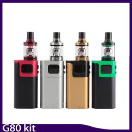 Wholesale Vs Tanks - G80 stater Kit with Spirals Tank 2ml Top Refilling E Cigarette with Sprals Tank vs G150 QBOX Kit 0268067