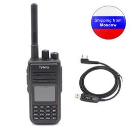 cable de programación tyt Rebajas TYT MD-380 UHF 400-480MHz 1000 canales DMR Walkietalkie digital MD380 con pantalla LCD en color + cable de programación USB