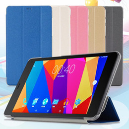 Wholesale T8 Tablet - Folio PU leather case folding stand cover for 8 Inch CUBE T8 Tablet Dirt-resistant 5 color