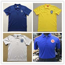 2018 World Cup France Soccer Jerseys polo shirt 18 19 Argentina germany  Spain Colombia Short Sleeve Football Polo adult Sport Training shirt france  world ... 0bbdb71fd