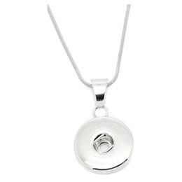 Collana da donna noosa Ciondolo per bottone a pressione 18mm Gioielli regalo Catena in acciaio inossidabile Catena in vera pelle Lunghezza 60 cm da collana d'argento del cuore 3d fornitori