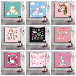 tapices de calidad Rebajas Cartoon Unicorn Tapestries Rectangular 3D Impresión Digital Colgante de Pared Toalla de Playa Cómodo Sun Shading Yoga Mat Alta Calidad 18ls B