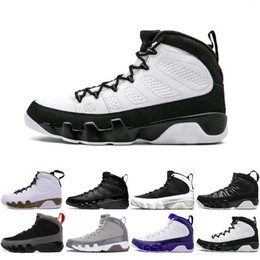 Wholesale online b - Online Cheap Top Quality 9S AAA Bred Space Jam LA Oreo Basketball Shoes 9 Suede Men Footwear Designer Sport Athletic Sneakers Shoes