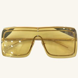 Rectángulo sin gafas de sol online-2018 Rimless Design Retro Rectangle Sunglasses Mujeres Espejo Gafas Hombres Gafas Transparentes Frameless Lady Sunglasses de sol UV400