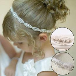 Nova adorável bebê meninas princesa flor hairband crianças crianças strass headband headwear elástico faixa de cabelo acessórios de