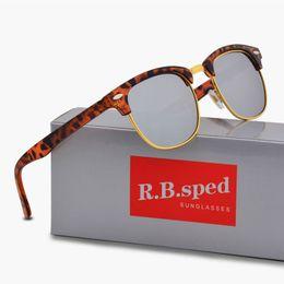 Wholesale reflective sunglasses - New Luxury Brand Polarized Sunglasses Reflective Sport UV Protection polaroid lens Fashion Designer Vintage Sun glasses with case and box