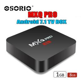 2019 mx tv box quad core Android 7.1 TV Box MXQ Pro 4K Quad Core 8G / 1G Amlogic S905W RK3229 Smart TV Box suport WIFI 3D