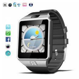 Wholesale Android Watch 3g - 3G Smartwatch Phone Android 4.4 MTK6572 Dual Core Bluetooth QW09 WIFI Smart Watch High Quality VS DZ09 with Retail box