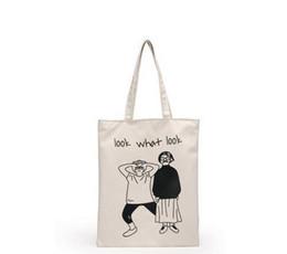 Wholesale Environmental Protection Bags - free shipping high quality Canvas tote bag fashion women's handbags casual shoulder bags Environmental protection shopping bag