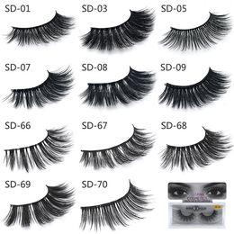 Wholesale 3d Eyelash Extensions Wholesale - New 3D Mink Eyelashes Eyelashes Messy Eye lash Extension Sexy Eyelash Full Strip Eye Lashes DHL