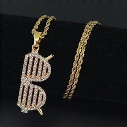 Wholesale Girls Christmas Gift Ideas - Hip-Hop Alloy Iced Out Gold-plated Twist Necklace Sunglasses Pendant for Men Women Gift Idea Charm Girl