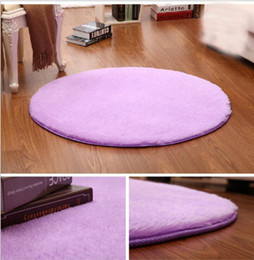 Wholesale Brown Area - Free Shipping Bedroom Flutty Round Rugs Anti-Skid Shaggy Living Car Area Rug Dining Room Home Carpet Floor Mat Flokati Sofa Bed Bedroom Carp
