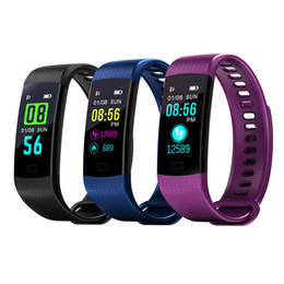 remote camera app Promo Codes - Y5 Smart Wristband Electronics Bracelet Color LCD Watch Activity APP Fitness Tracker Blood Pressure Heart Rate IP67 Waterproof Sports Band