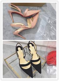 Semelles rouges sexy en Ligne-les femmes habillent chaussures top qualité 2017 femmes chaussures rouge bas talons hauts sexy bout pointu rouge semelle taille 35-39 talon hauteur 8cm