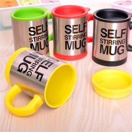 Wholesale Self Mug - Lazy Self Stirring Mug Automatic Electric Coffee Tea Mixing Cup With Lid Stainless Steel 350ml Creative Drinkware
