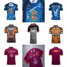 Wholesale black raccoons - Cheap Adult 17-19 QLD Maroons NSW Blues Crusaders West Tigers ROCKET RACCOON MARVEL TRUE BLUE CAPTAINS Training Home NRL Super Rugby Jerseys