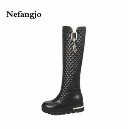 ee73667e820 8 Fotos Compra Online Botas negras de hebillas para mujer-Nefangjo 2018  Invierno Cálido Mujer Tacones Altos