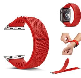 Reloj de silicona sin hebilla. online-Nueva correa del reloj Sin correa de hebilla iwatch S2 S3 sin clip de silicona correa de reloj inteligente 38mm42mm