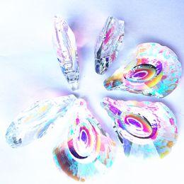Prismas de vidrio colgantes online-63 MM Gorgeous Crystal Facetadas Colgantes Clear AB Ventana de Cristal Colgando Prismas Suncatcher Para Precioso Árbol de Navidad Decoración