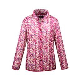 Wholesale Dress Parka - CHUSAUBEAUTY 2017 new Russian style of dress women's clothing flower print Parkas Winter Women's Jacket Manteau Femme