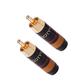 spine di rame rca Sconti 2 PZ di Alta Qualità RCA Spina di Rame Placcatura in Oro Spina Fever Cavo del Segnale Audio Plug HiFi Audio Conector RCA Adattatore Maschio YS-348