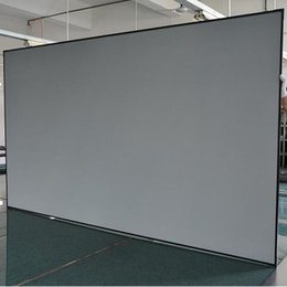 Wholesale Frame Projection Screen - 80'' Diagonal 16:9 Ambient Light Rejecting Fixed Frame Projection Projector Screen for Ultra short throw projectors